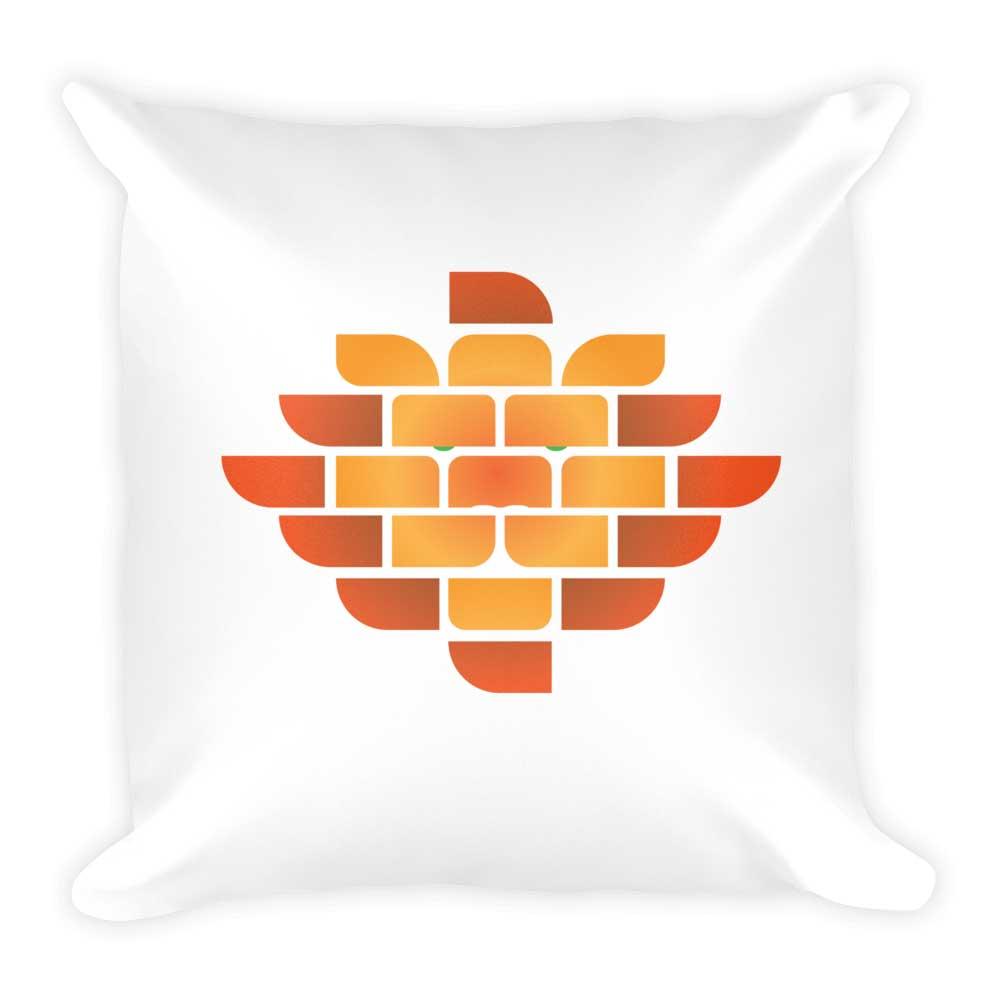 Brick Lion Pillow - White