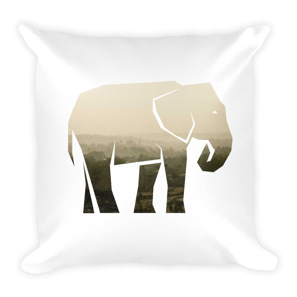 Elephant Pillow - White