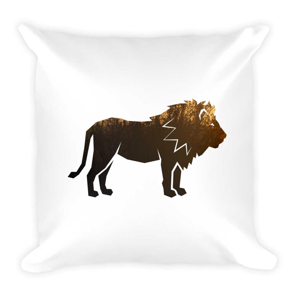Lion Pillow - White