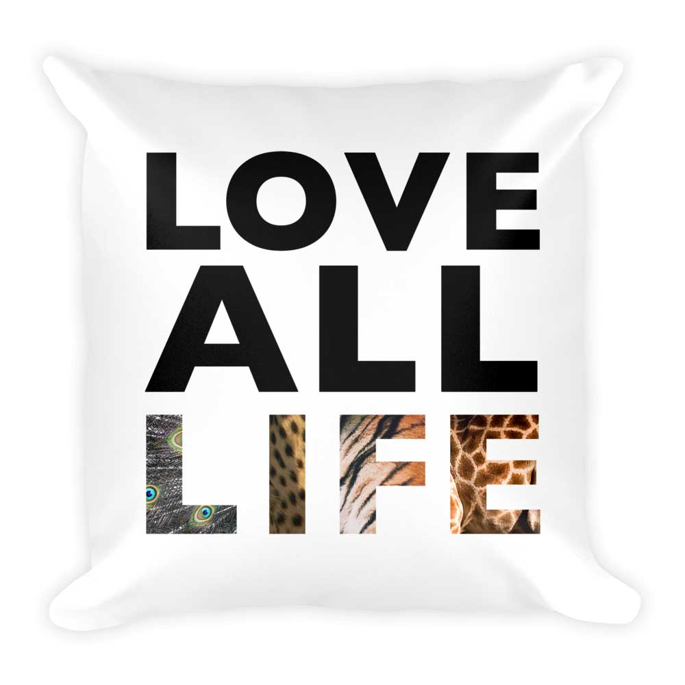 Love All Life Pillow - White