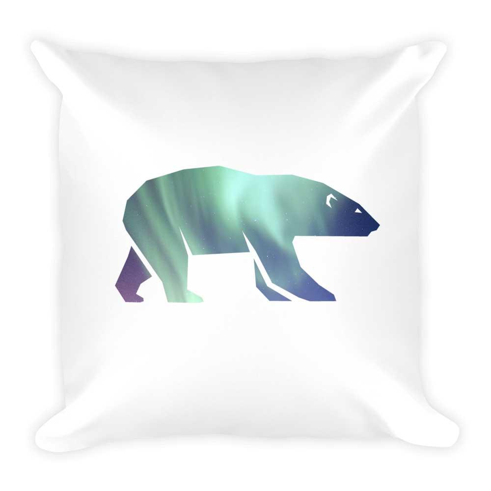 Polar Bear Pillow - White