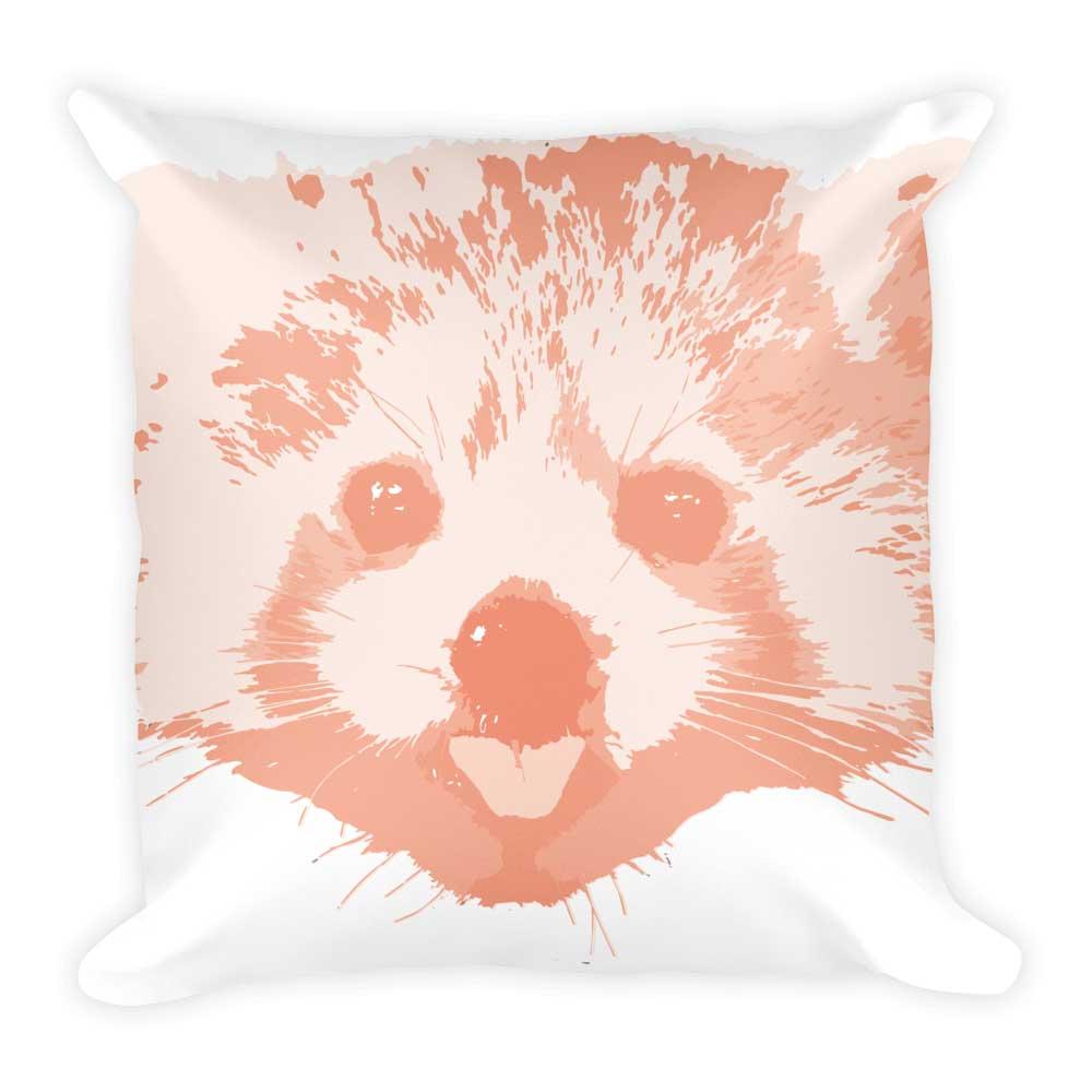 Red Panda Pillow - White