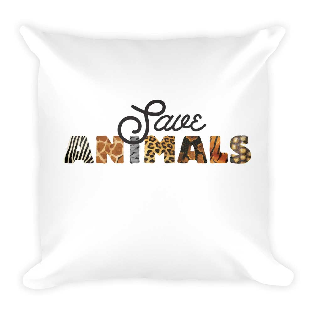 Save Animals Pillow - White
