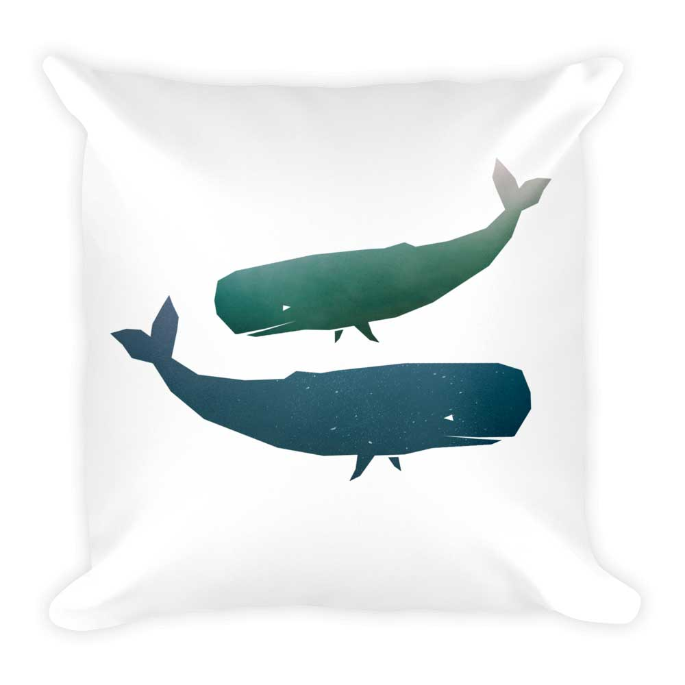Whale Pillow - White