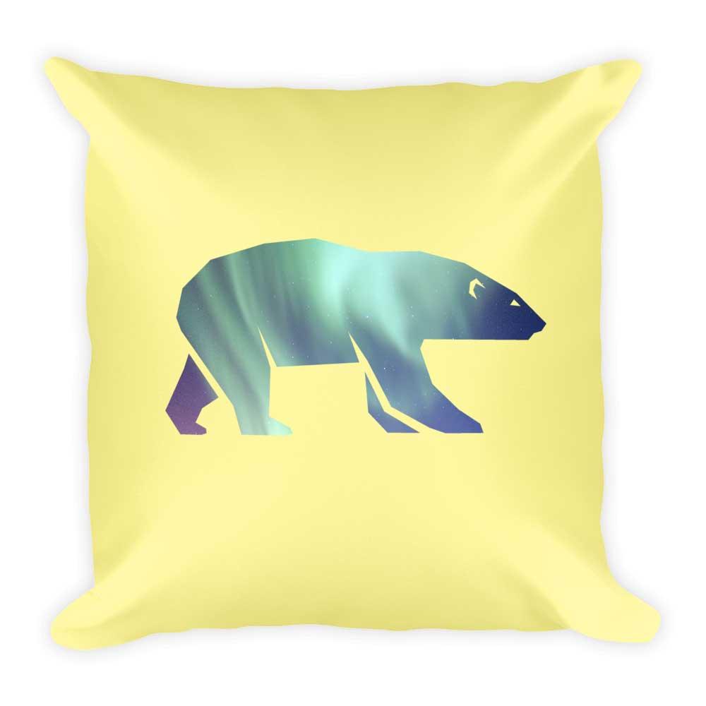 Polar Bear Pillow - Yellow
