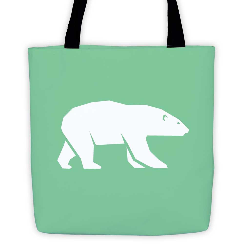 Polar Habitat Tote Bag - Mint
