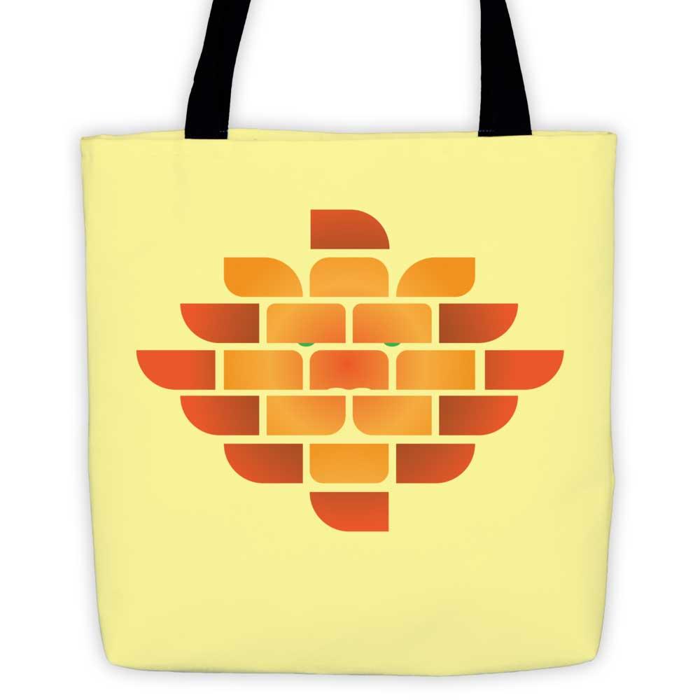 Brick Lion Tote Bag - Yellow