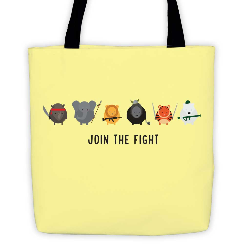 Join the Fight Tote Bag - Yellow