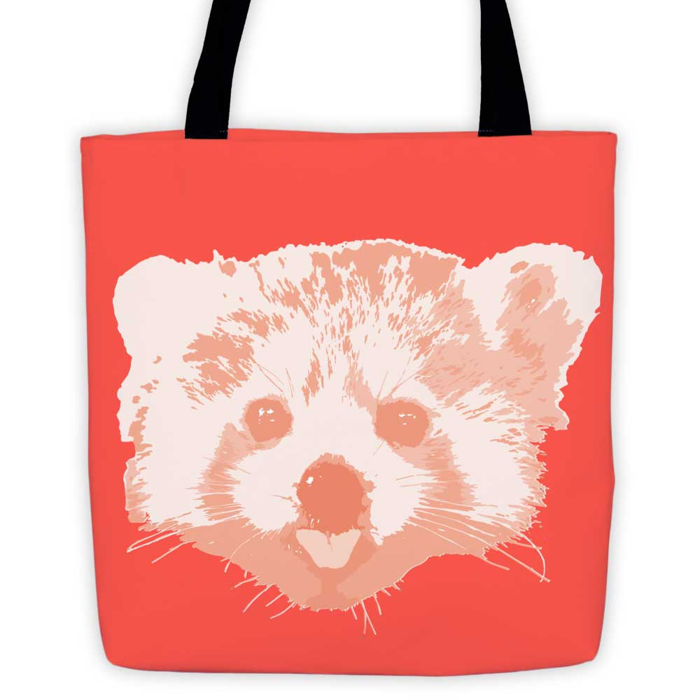 Red Panda Tote Bag - Red