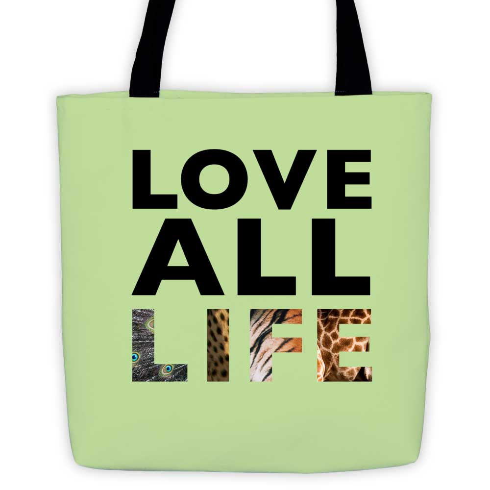 Love All Life Tote Bag - Green