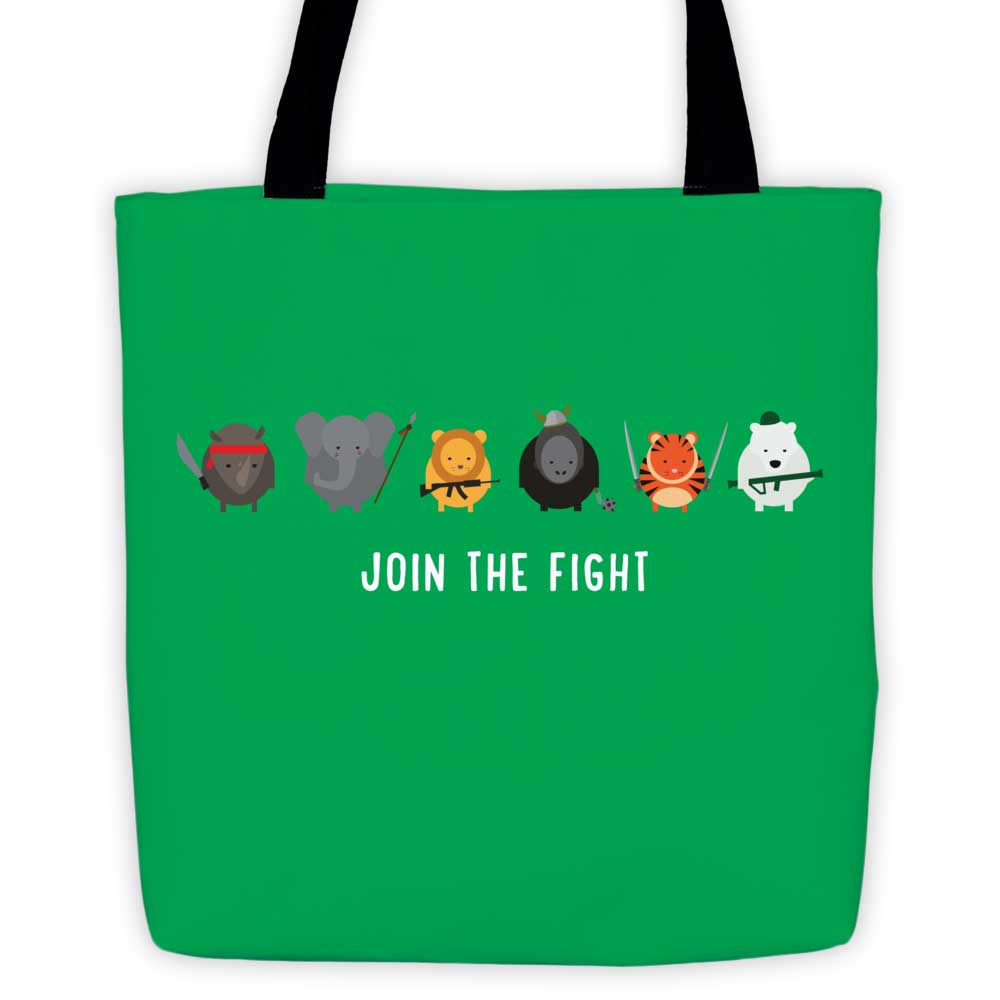 Join the Fight Tote Bag - Green