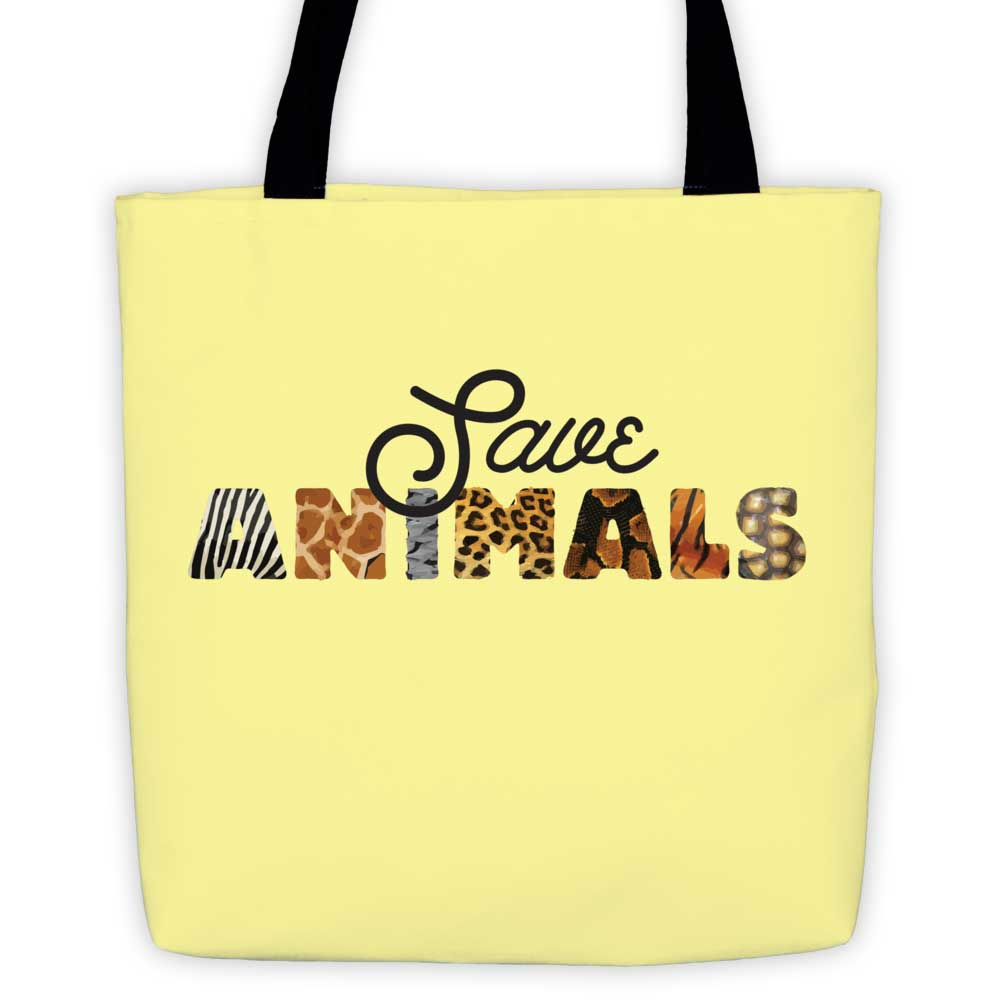 Save Animals Tote Bag - Yellow