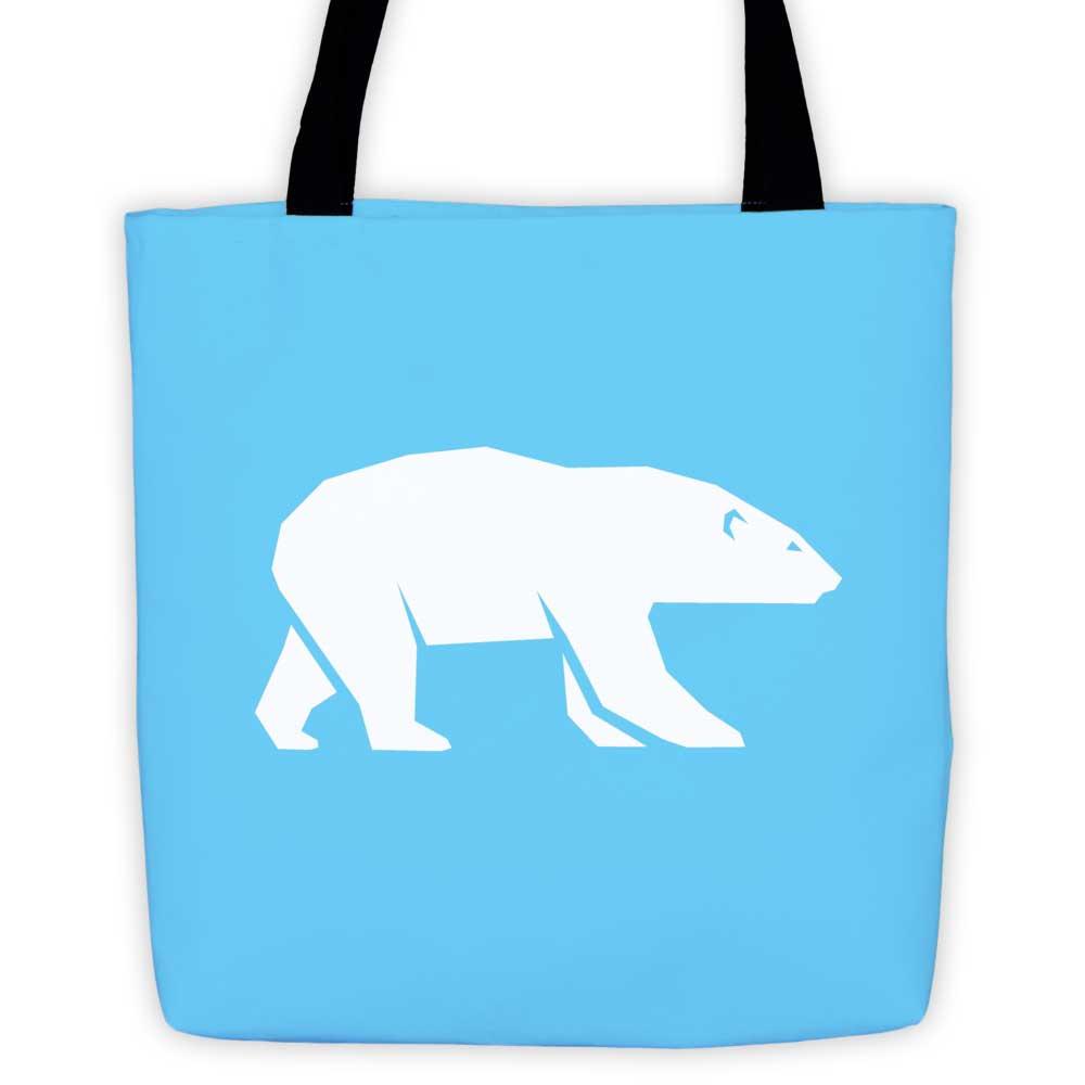 Polar Habitat Tote Bag - Light Blue