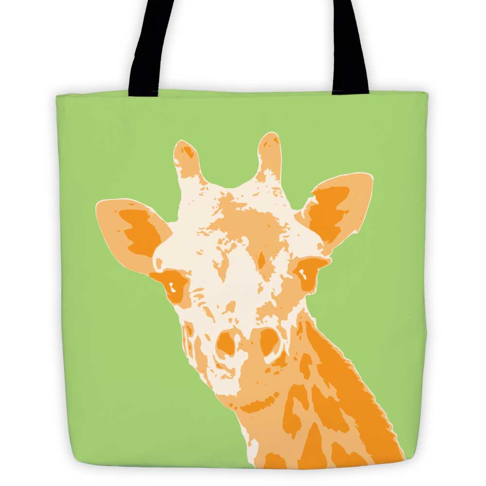 Giraffe Tote Bag - Green