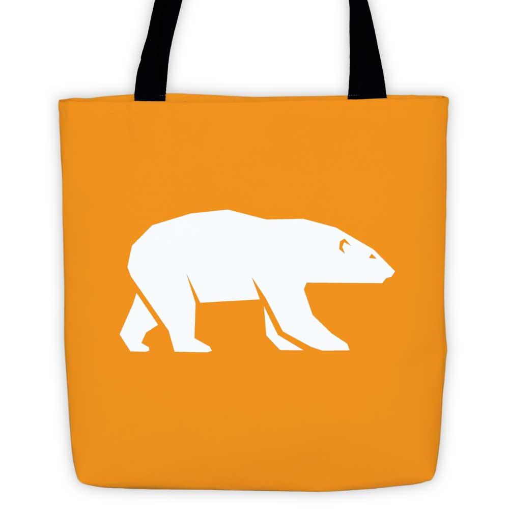 Polar Habitat Tote Bag - Orange
