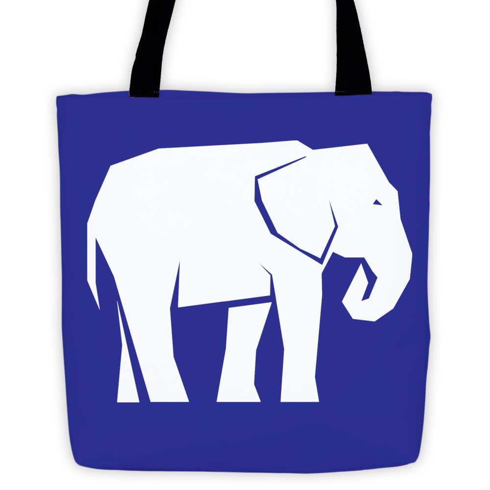 Elephant Habitat Tote Bag - Blue