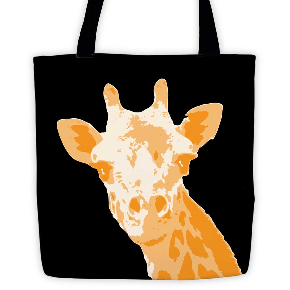 Giraffe Tote Bag - Black