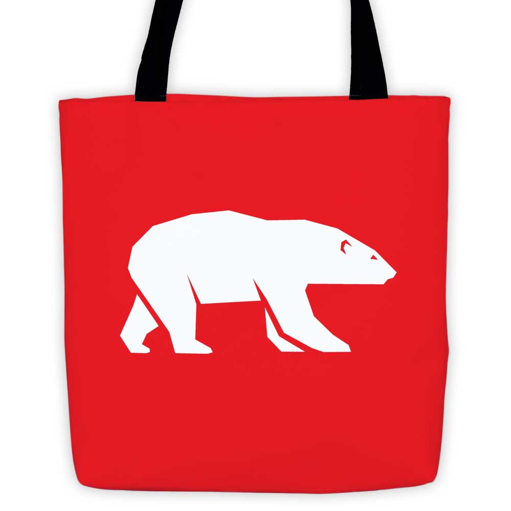 Polar Habitat Tote Bag - Red