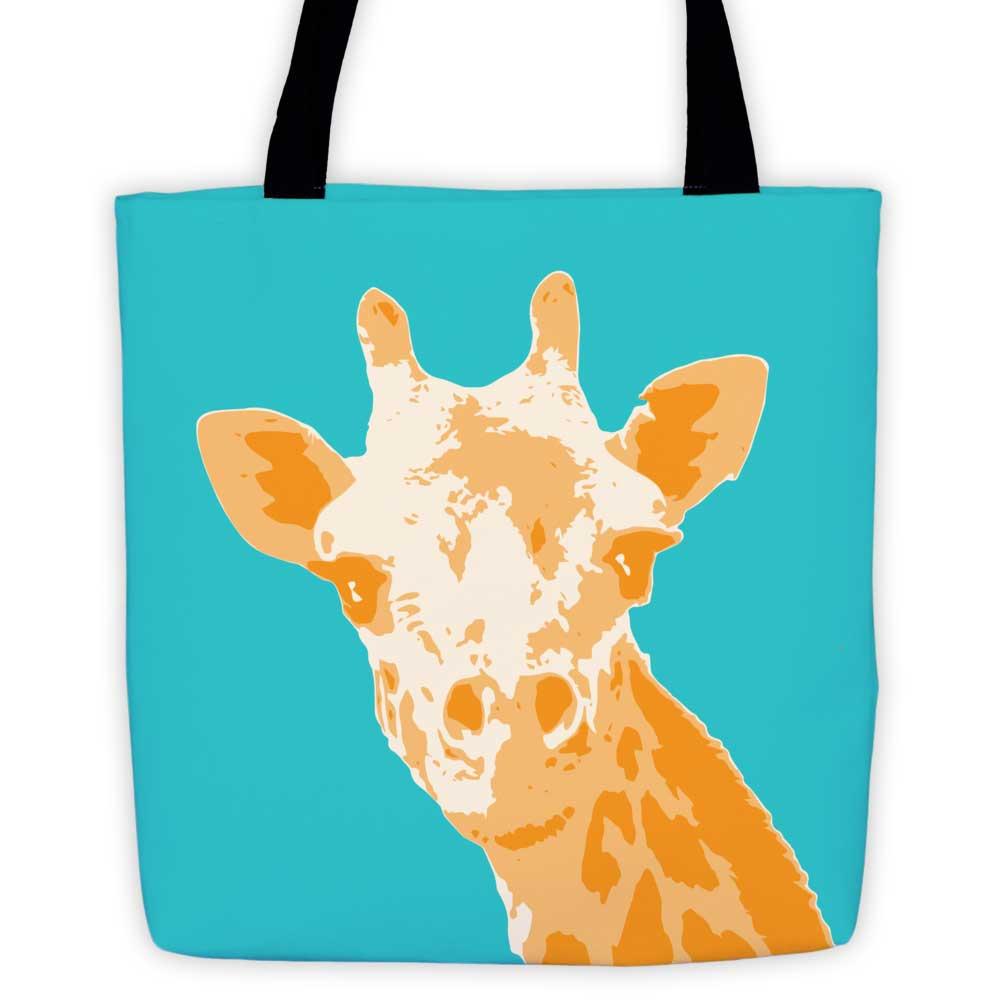 Giraffe Tote Bag - Teal