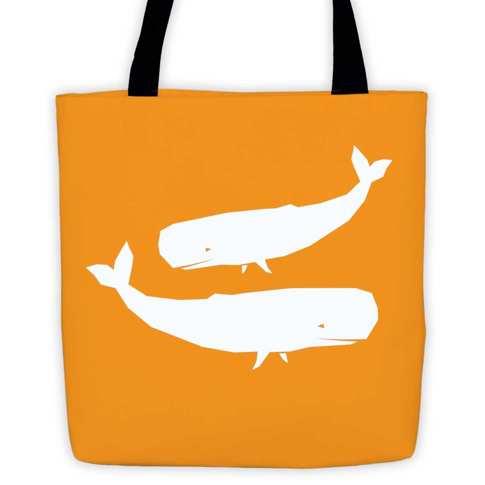 Whale Habitat Tote Bag - Orange