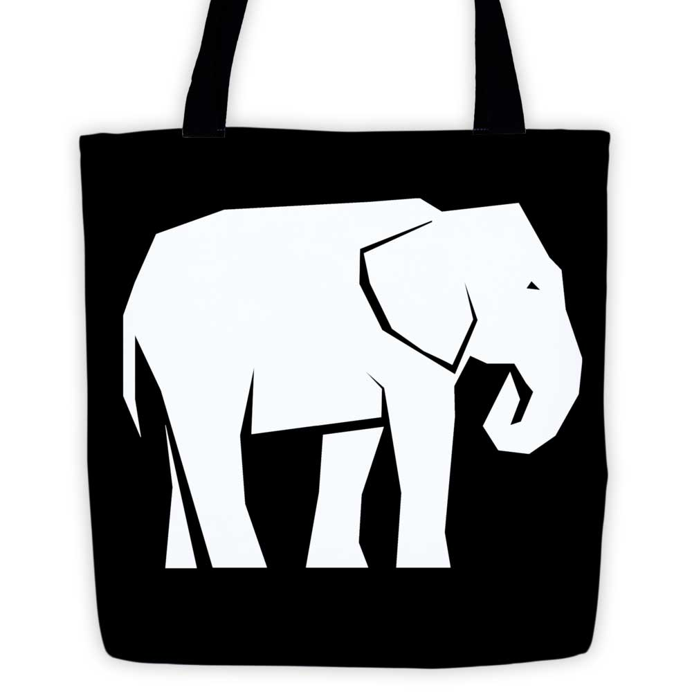 Elephant Habitat Tote Bag - Black