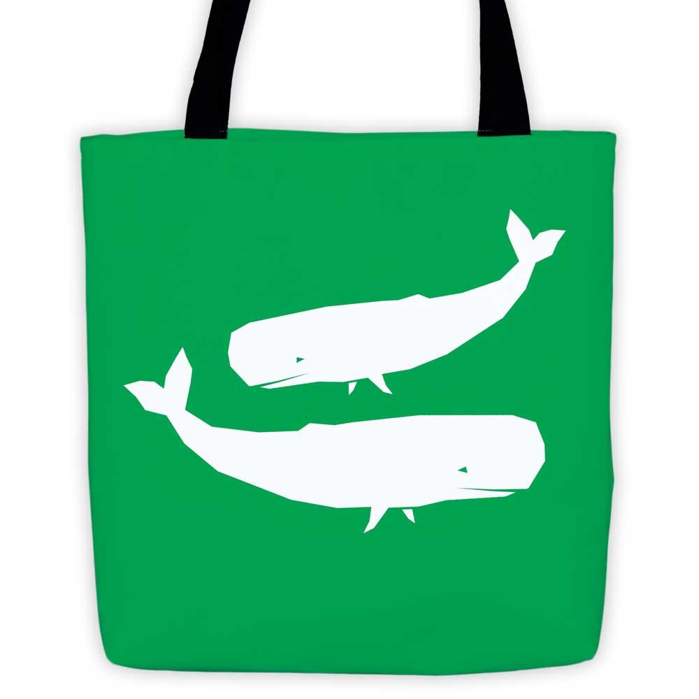 Whale Habitat Tote Bag - Green