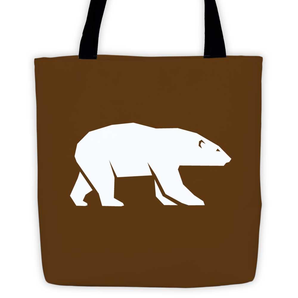 Polar Habitat Tote Bag - Brown