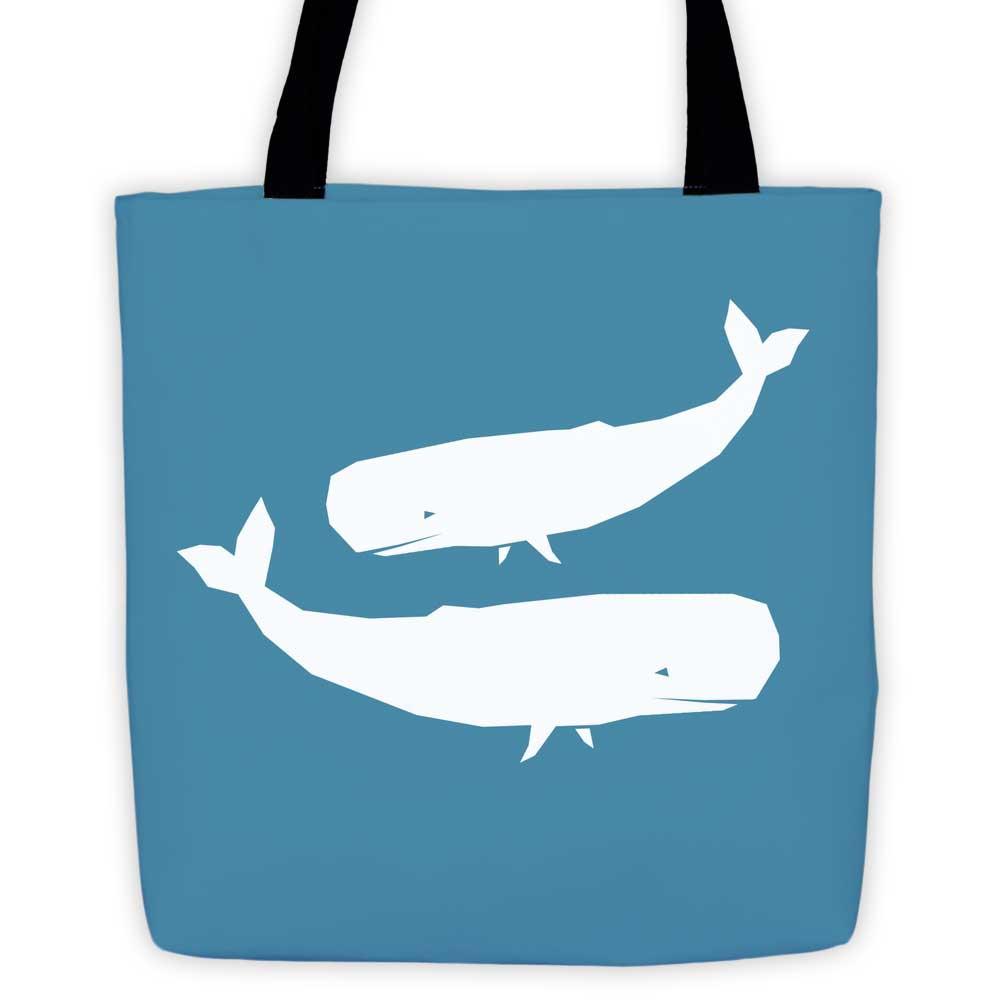 Whale Habitat Tote Bag - Blue