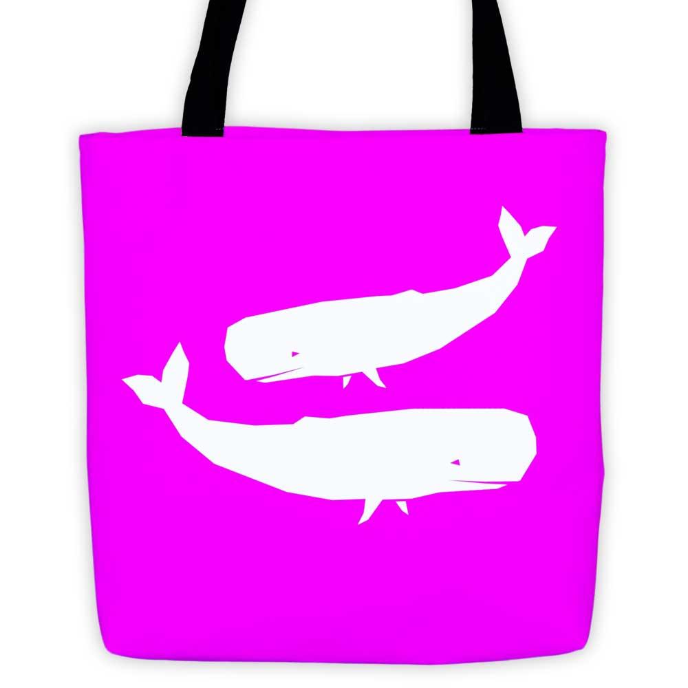 Whale Habitat Tote Bag - Pink