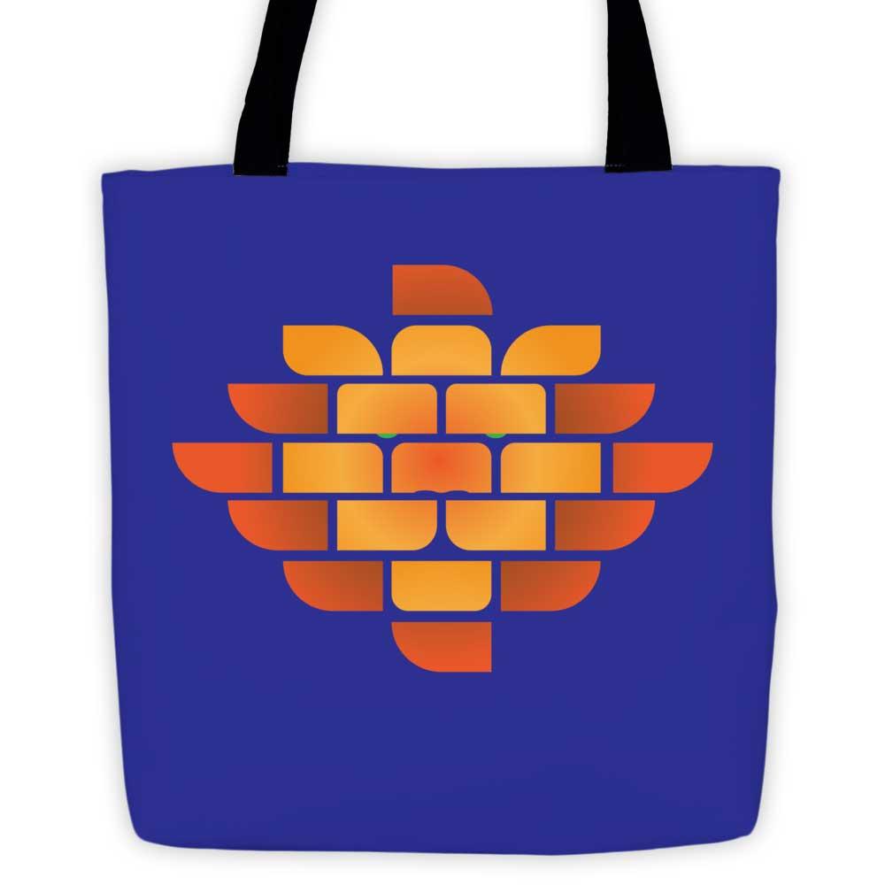 Brick Lion Tote Bag - Indigo