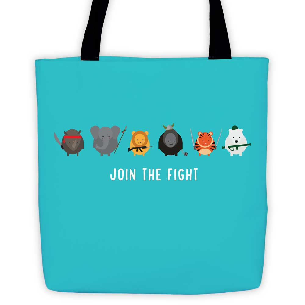 Join the Fight Tote Bag - Teal