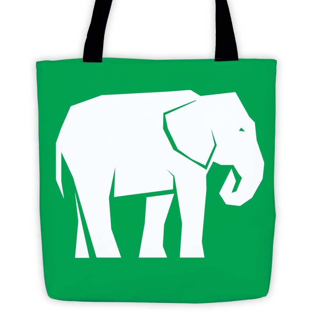 Elephant Habitat Tote Bag - Green