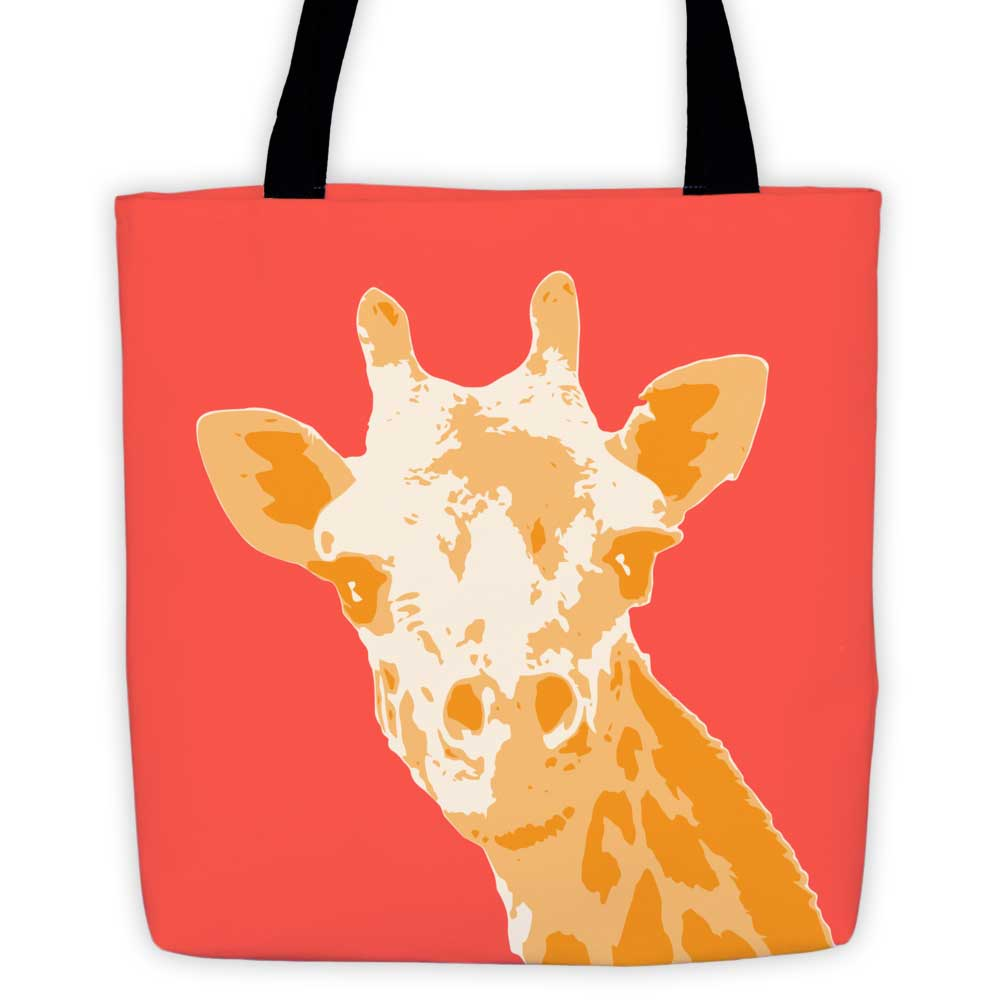 Giraffe Tote Bag - Red
