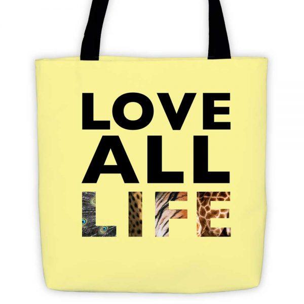 Love All Life Tote Bag - Yellow