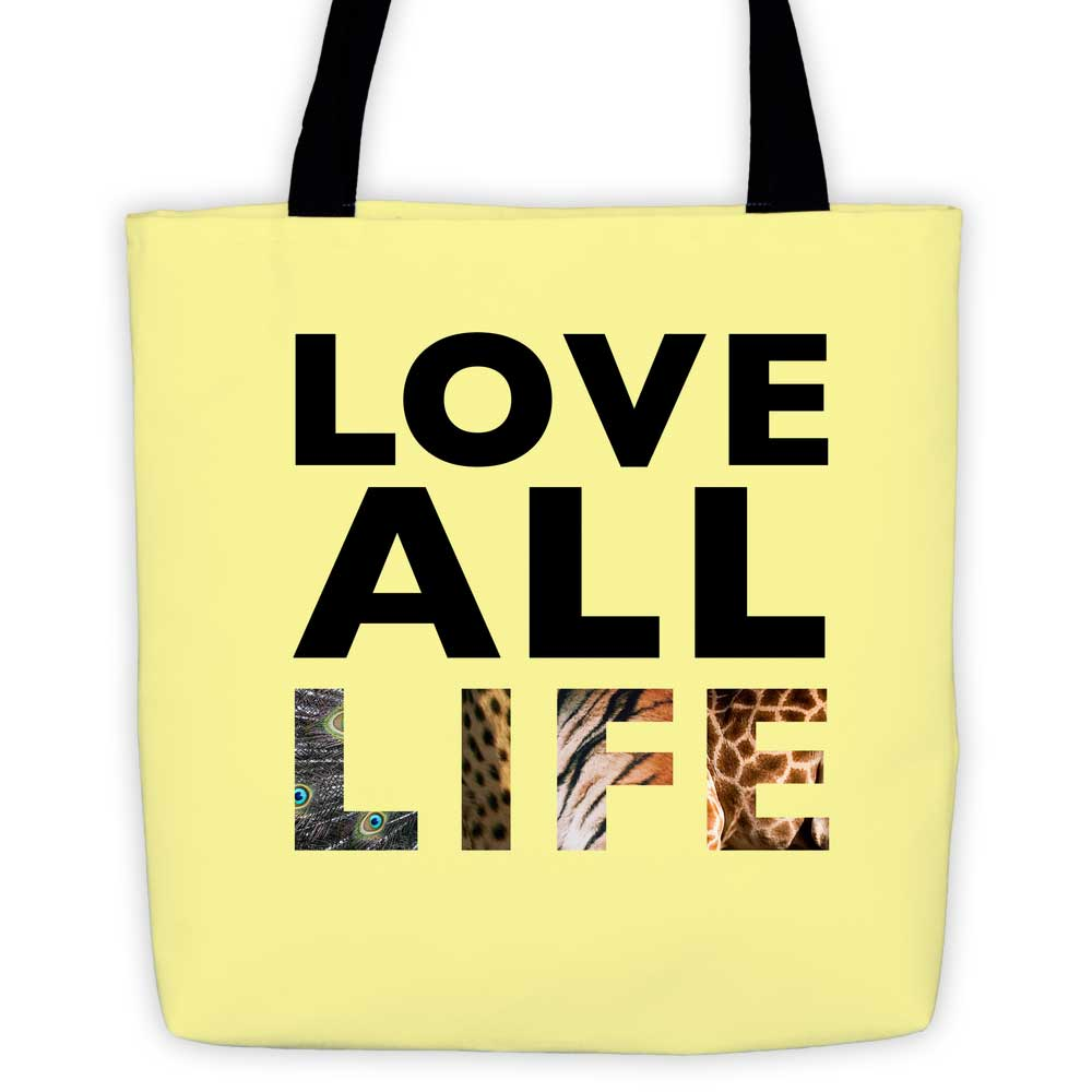 Love All Life Tote Bag - Yellow