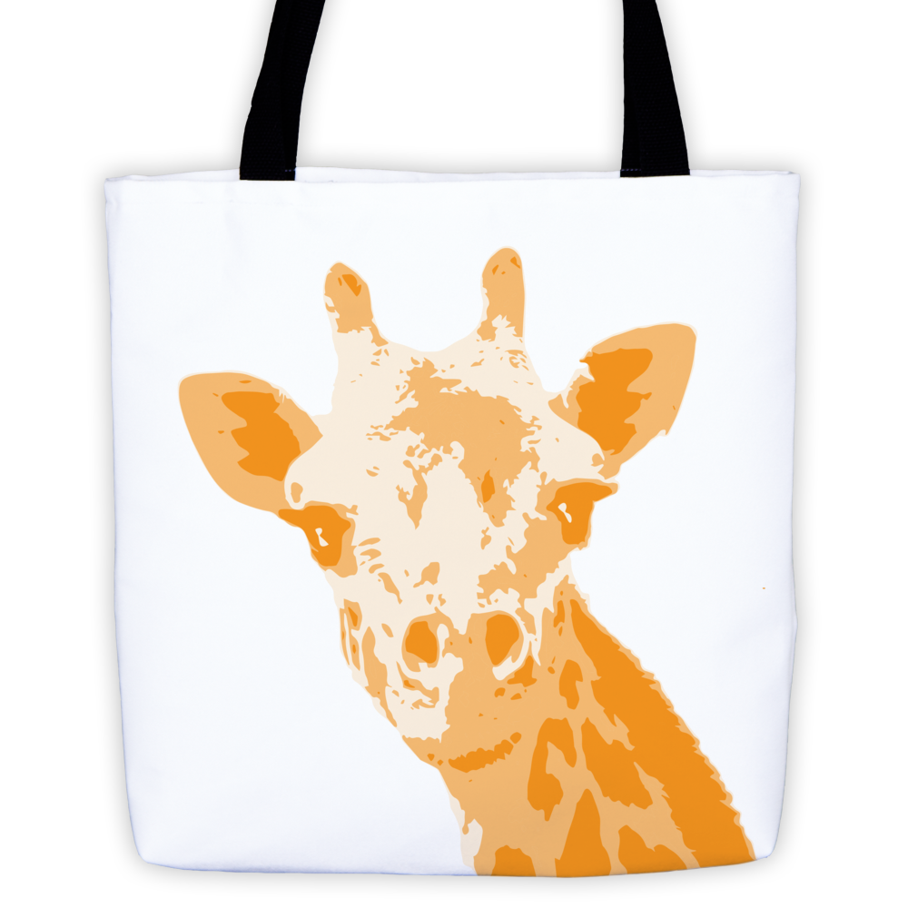 Giraffe Tote Bag - White