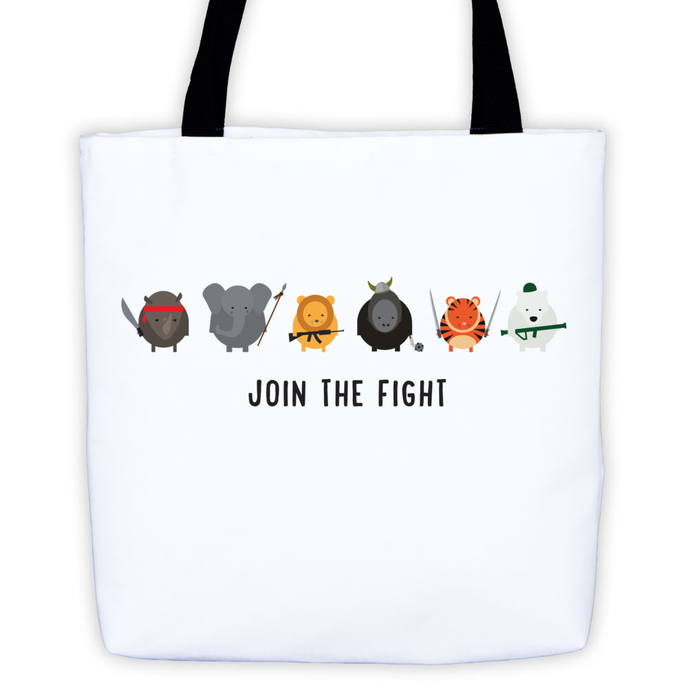 Join the Fight Tote Bag - White