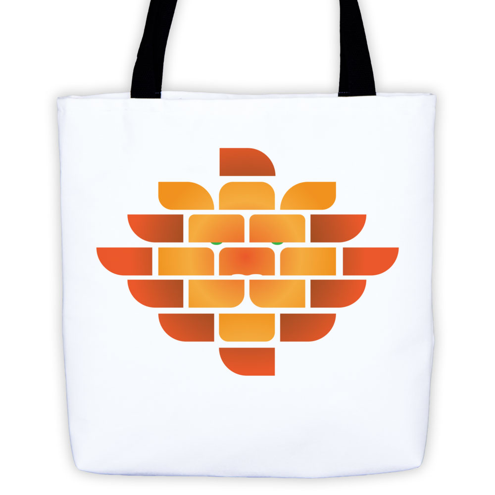 Brick Lion Tote Bag - White