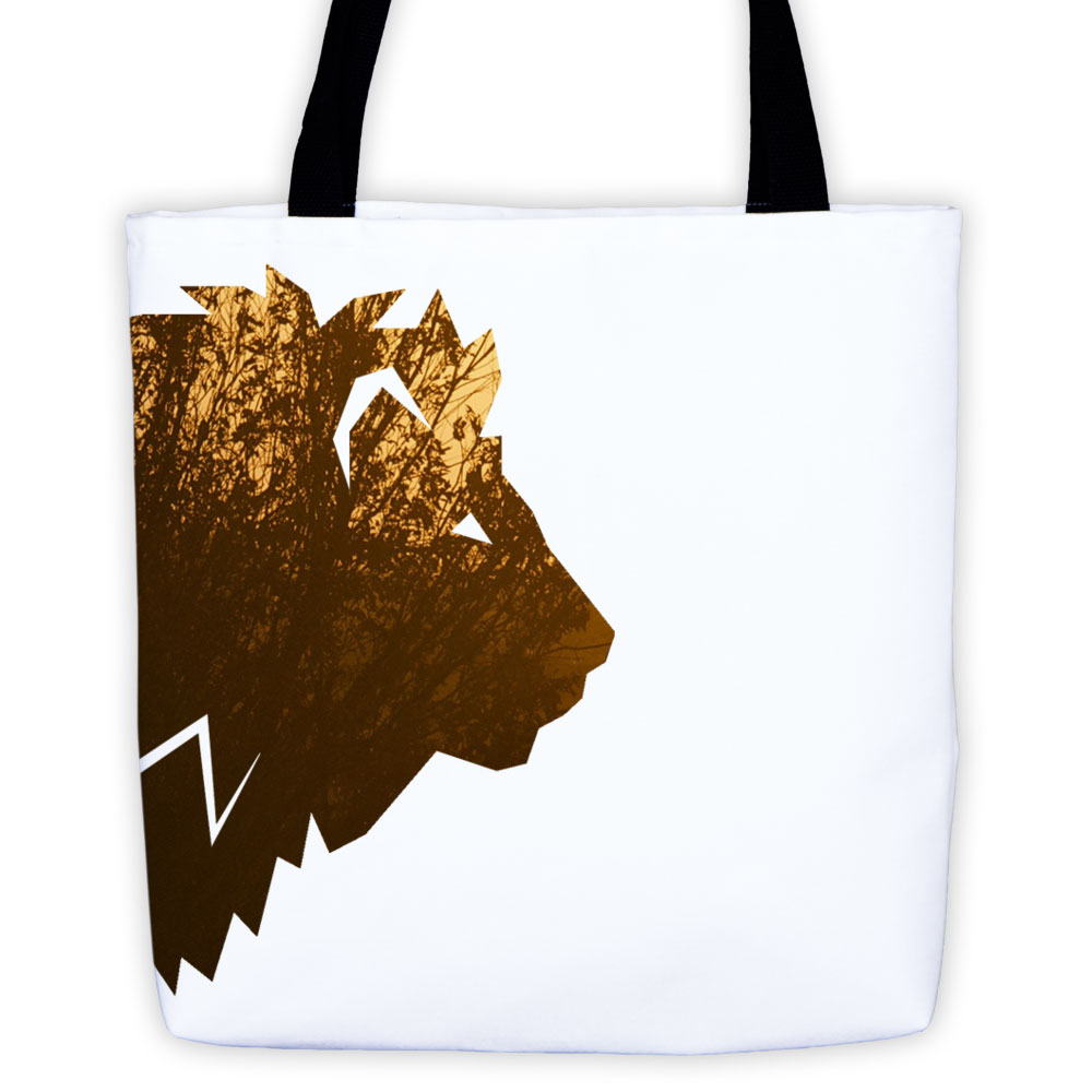 Lion Habitat Tote Bag - White