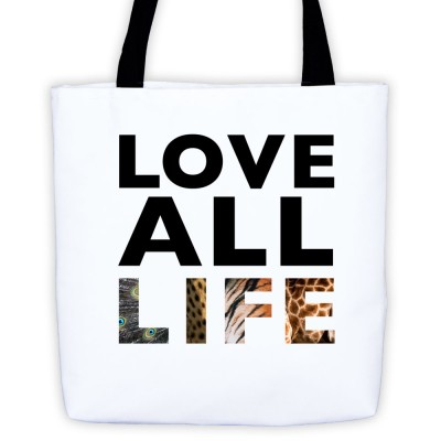 Love All Life Tote Bag - White