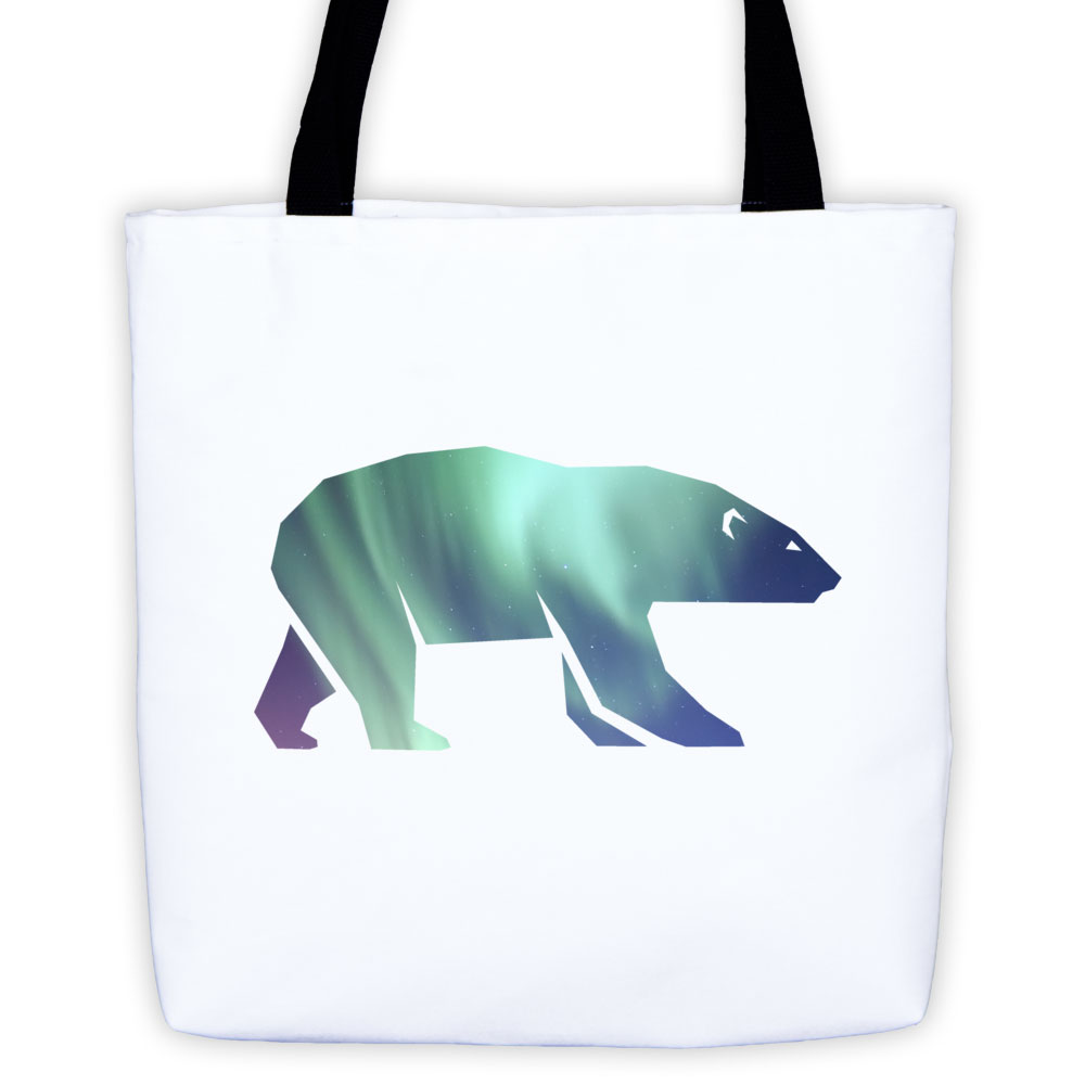 Polar Bear Habitat Tote Bag - White