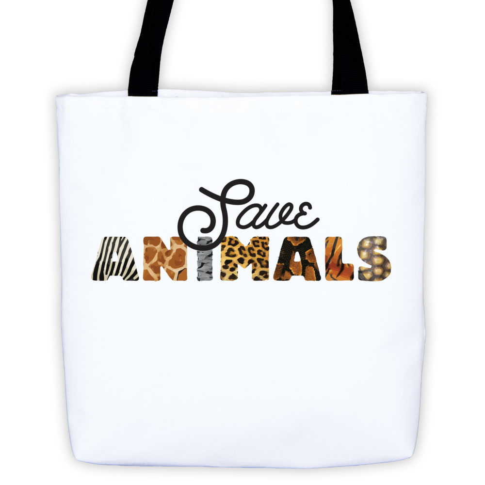 Save Animals Tote Bag - White