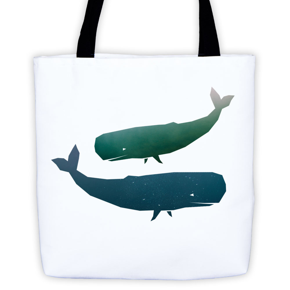 Whale Habitat Tote Bag - White