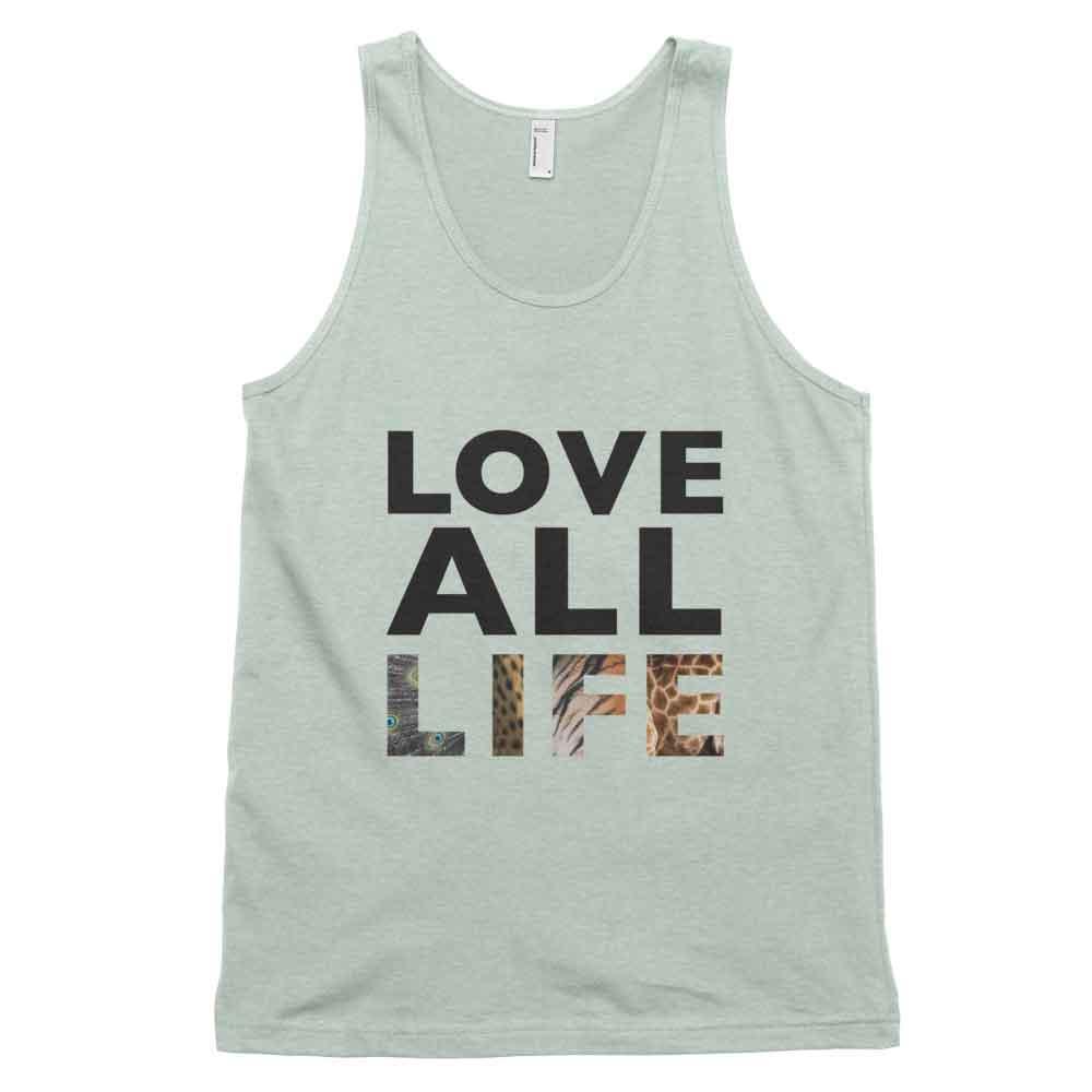 Love All Life Tank - Ash Grey Sea Foam