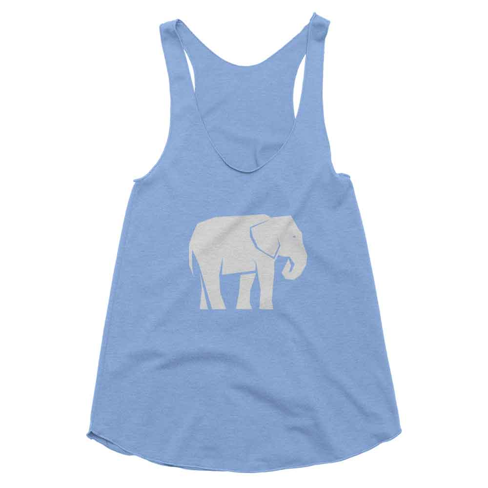 Elephant Habitat Tank Women - White Athletic Blue