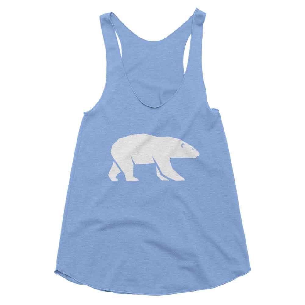 Polar Bear Habitat Tank Women - White Athletic Blue