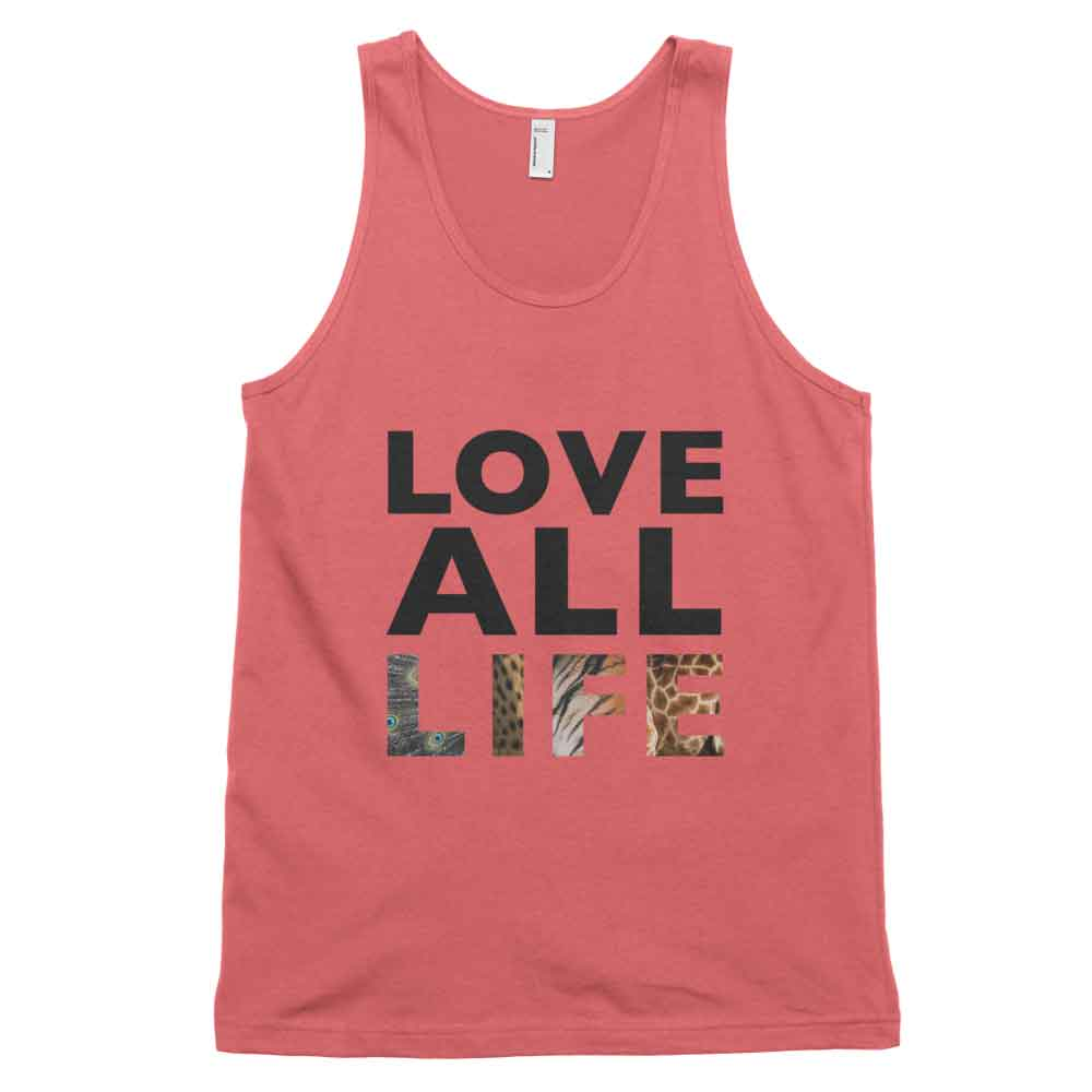 Love All Life Tank - Coral
