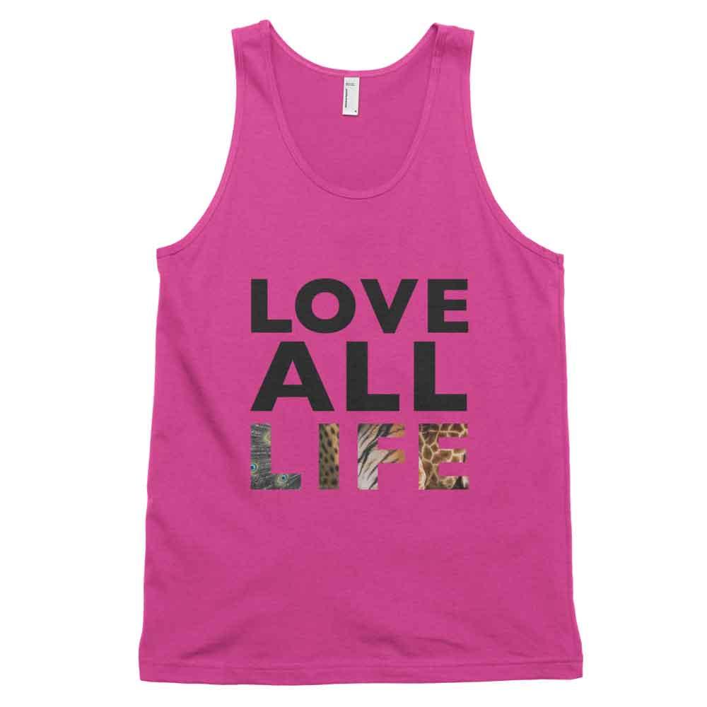 Love All Life Tank - Fuchsia