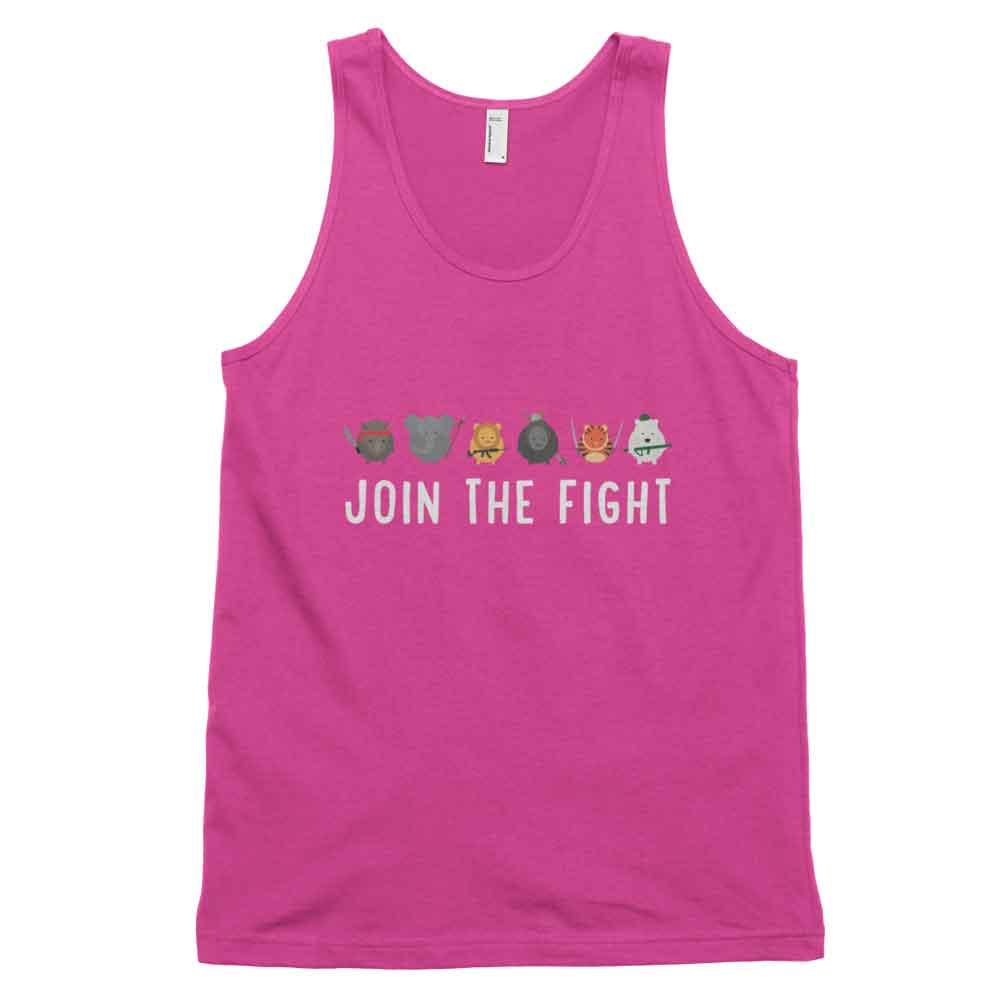 Join the Fight Tank - Fuchsia