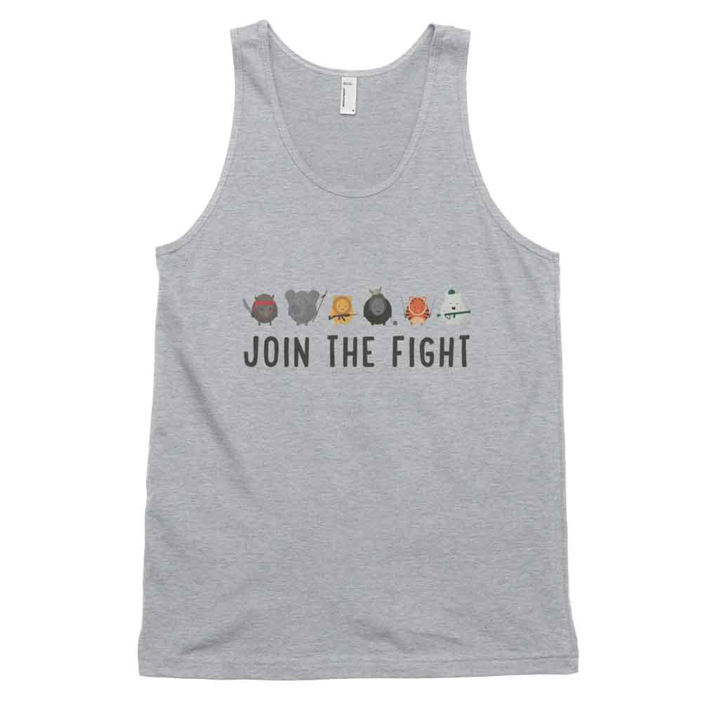Join the Fight Tank - Heather Grey